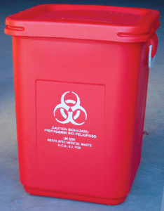 reusable medical waste container